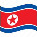 country, flag, korea, national, north, world