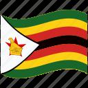 country, flag, national, world, zimbabwe