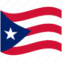 country, flag, national, puerto rico, world icon