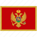 flag, country, montenegro, national, world