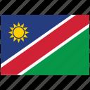 flag, country, namibia, national, world icon