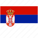 flag, country, serbia, national, world