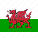 flag, country, wales, national, world