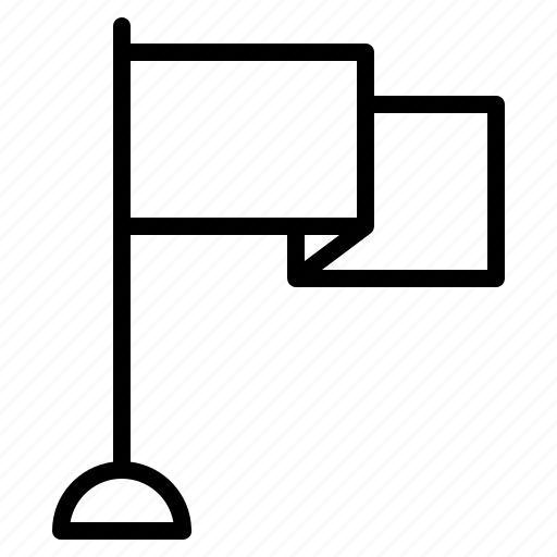 flag, sign, signal icon