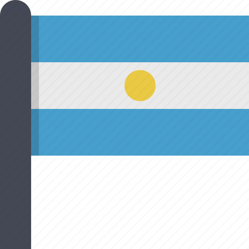argentina, country, flag, south america icon