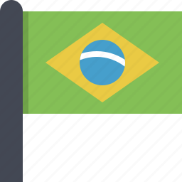 brazil, country, flag, south america icon