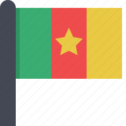 africa, cameroon, country, flag icon