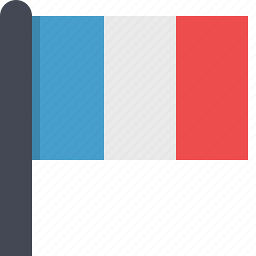 country, europe, flag, france icon