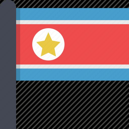 asia, corea, country, flag, north corea icon