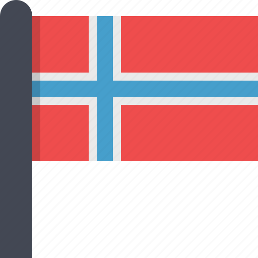 country, europe, flag, norway, scandinavia icon