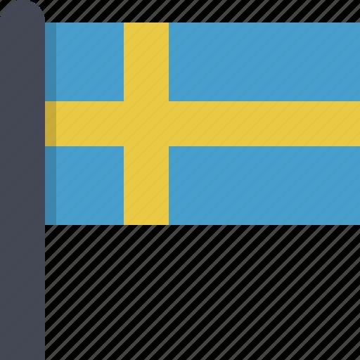 country, europe, flag, scandinavia, sweden icon