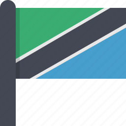 africa, country, flag, tanzania icon