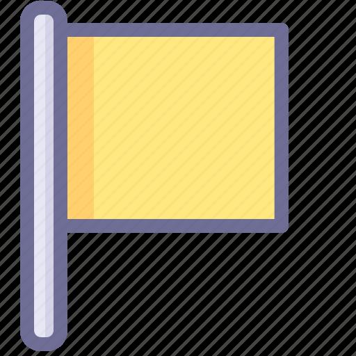 flag, location, yellow flag icon