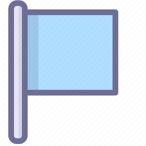 blue flag, flag, location icon