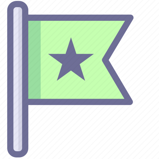 flag, location, mark, position icon