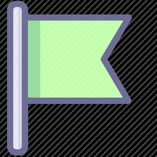 flag, green flag, mark, office icon