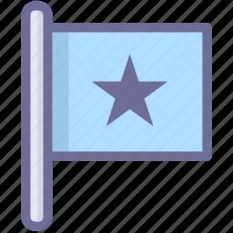 blue flag, flag, star flag icon