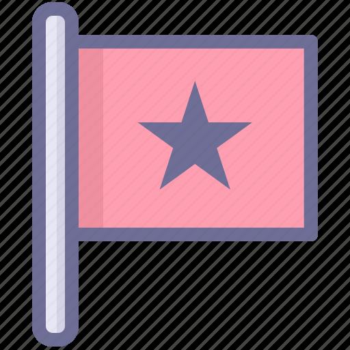 flag, mark, red flag icon