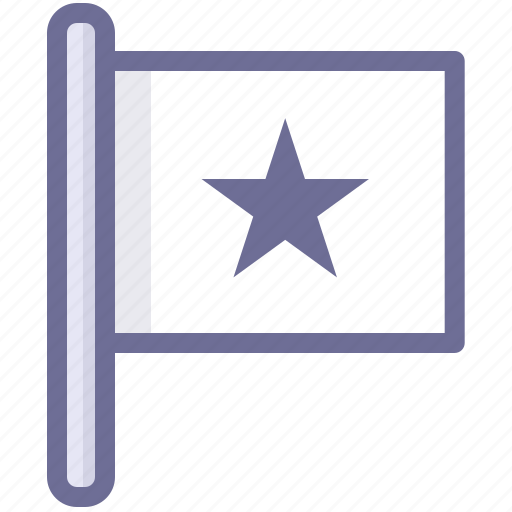 flag, mark, star flag icon