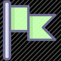 flag, green flag, mark icon