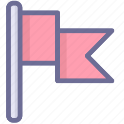 flag, location, mark icon