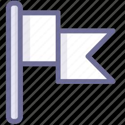flag, location, position, white flag icon