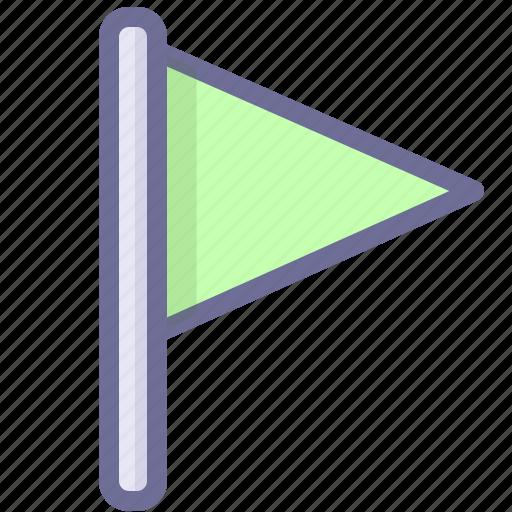 flag, green flag, location icon