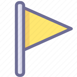 flag, mark, office, yellow flag icon