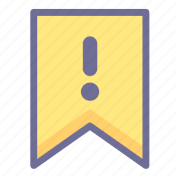 flag, information, warning icon