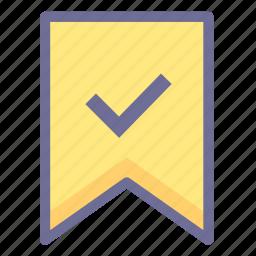 excellent, flag, guarantee icon
