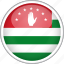 abkhazia, circle, country, flag, national icon