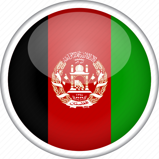 afghanistan, circle, country, flag, national icon