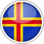 aland, circle, country, flag, national icon