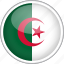 algeria, circle, country, flag, national icon