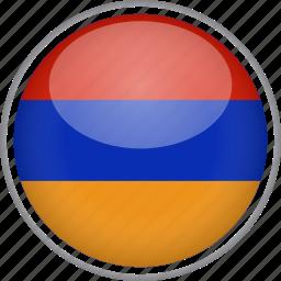 almenia, circle, country, flag, national icon
