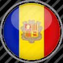 andorra, circle, country, flag, national