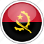 angola, circle, country, flag, national icon
