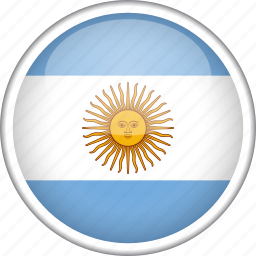 argentina, circle, country, flag, national icon