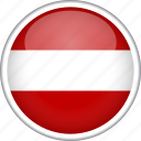 austria, circle, country, flag, national icon