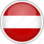 austria, circle, country, flag, national icon