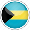 bahamas, circle, country, flag, national icon