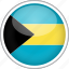bahamas, circle, country, flag, national icon
