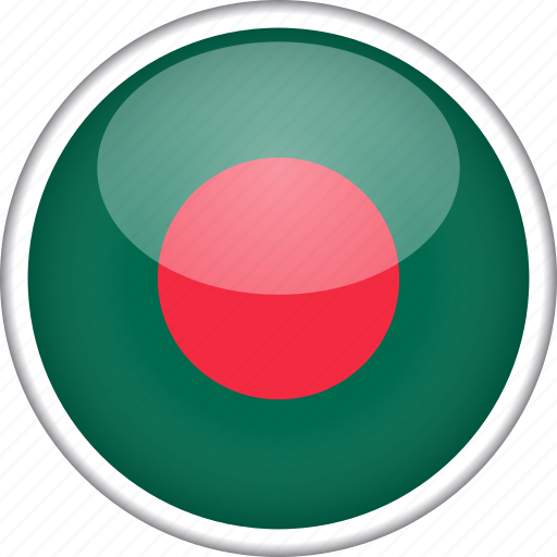 bangladesh, circle, country, flag, national icon