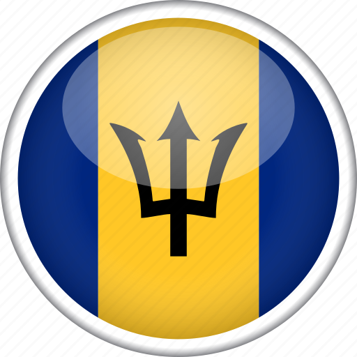 barbados, circle, country, flag, national icon