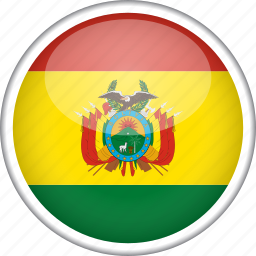 bolivia, circle, country, flag, national icon