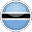 botswana, circle, country, flag, national icon
