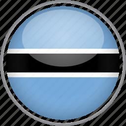 botswana, circle, country, flag, national icon