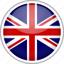 britain, british, circle, country, england, flag, kingdom icon
