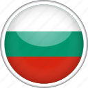 bulgaria, circle, country, flag, national icon