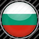 bulgaria, circle, country, flag, national